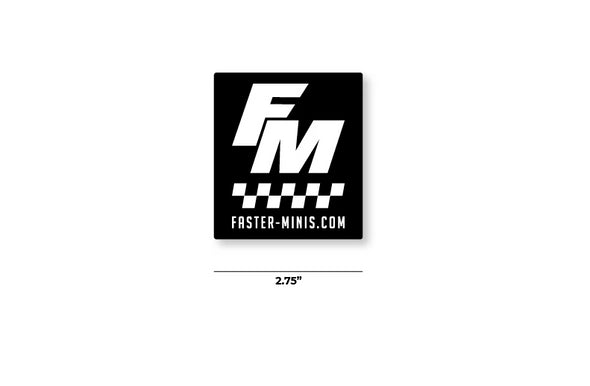 FM Checkered Sticker