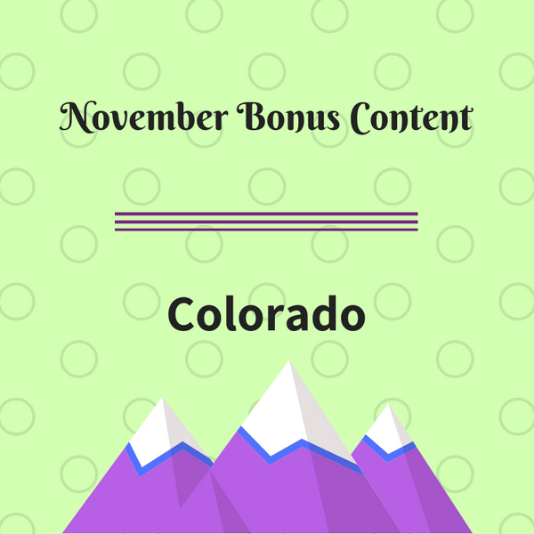 November Bonus Content - Colorado
