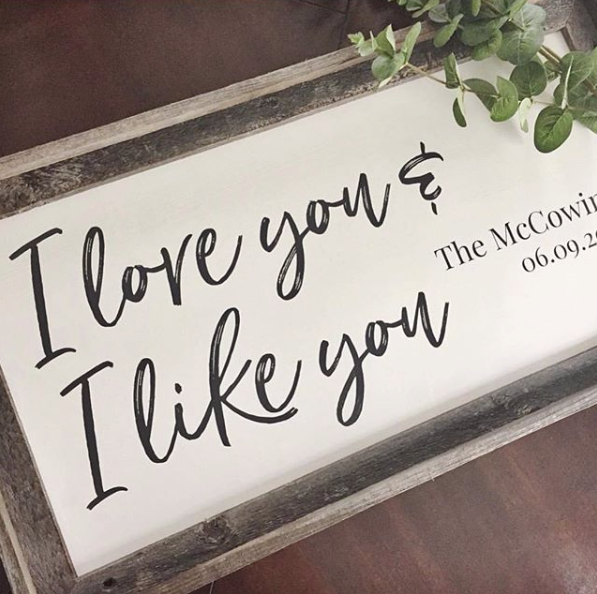 Making It Personal - Why we love custom signs! ♡