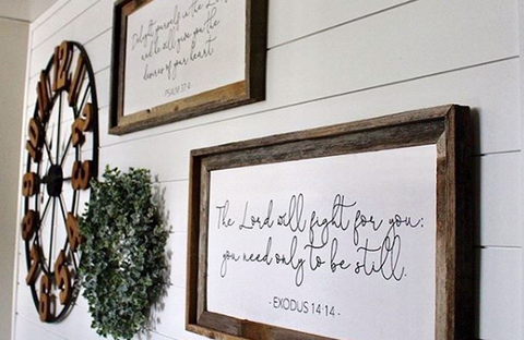 Custom Farmhouse Quote Sign