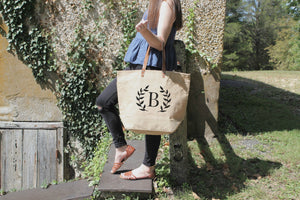 Personalized Burlap Tote Bags Bridesmaid Gifts