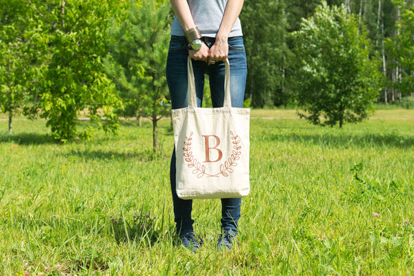 Monogrammed Bridesmaid Gift Bags  - 100% Organic Cotton