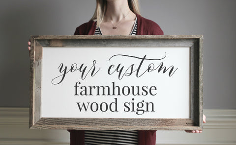 Design Your Own Custom Farmhouse Sign for Home - Custom Wood Sign - Gallery Wall Sign - Wedding Gift