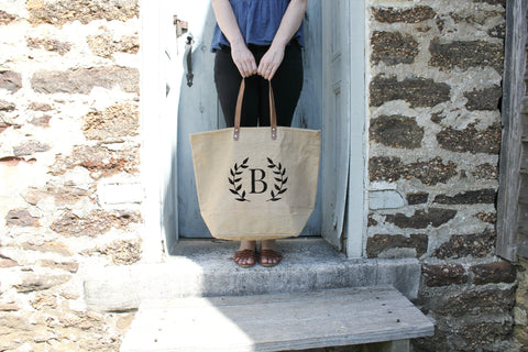 Bridesmaid Tote Bags for Bridesmaid Gifts - 100% Jute Burlap
