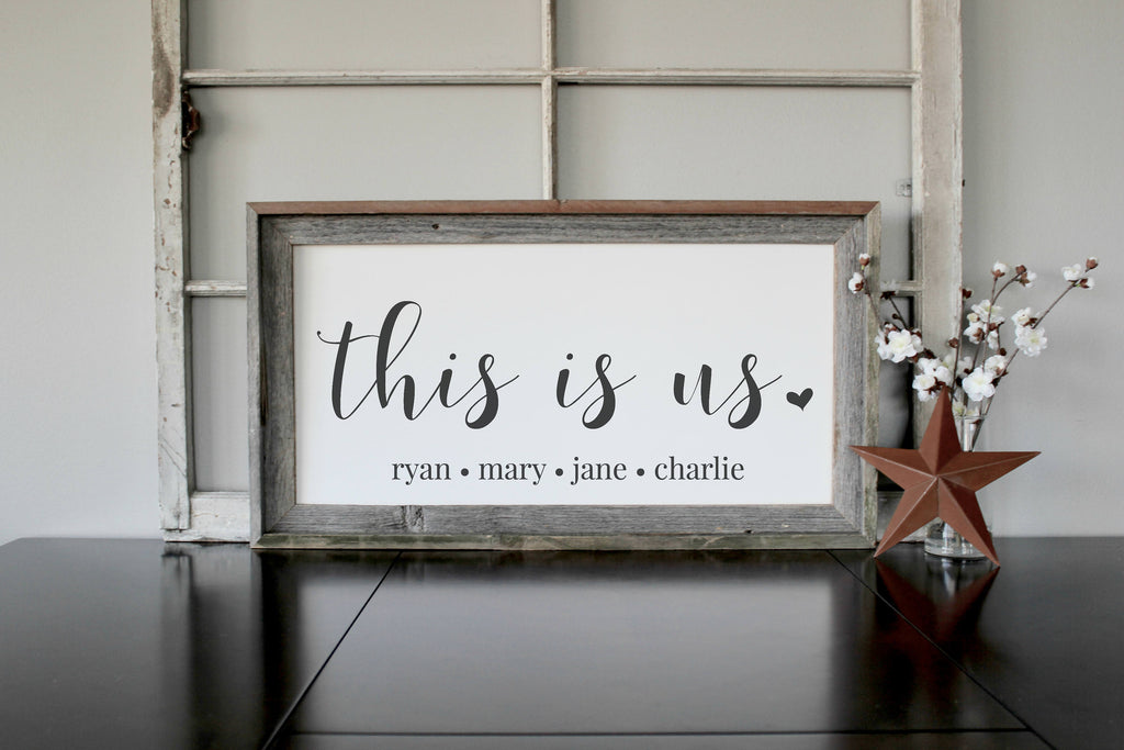 This Is Us Wood Sign - Personalized Family Gift for Adoption Gifts ...