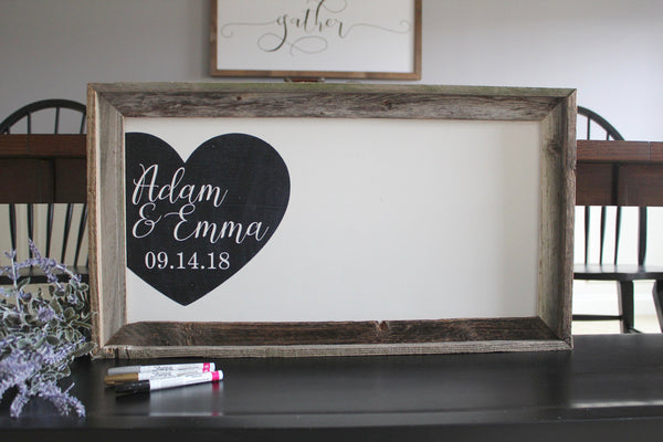 Custom Wedding Guestbook, Wedding Welcome Sign - Pen Included