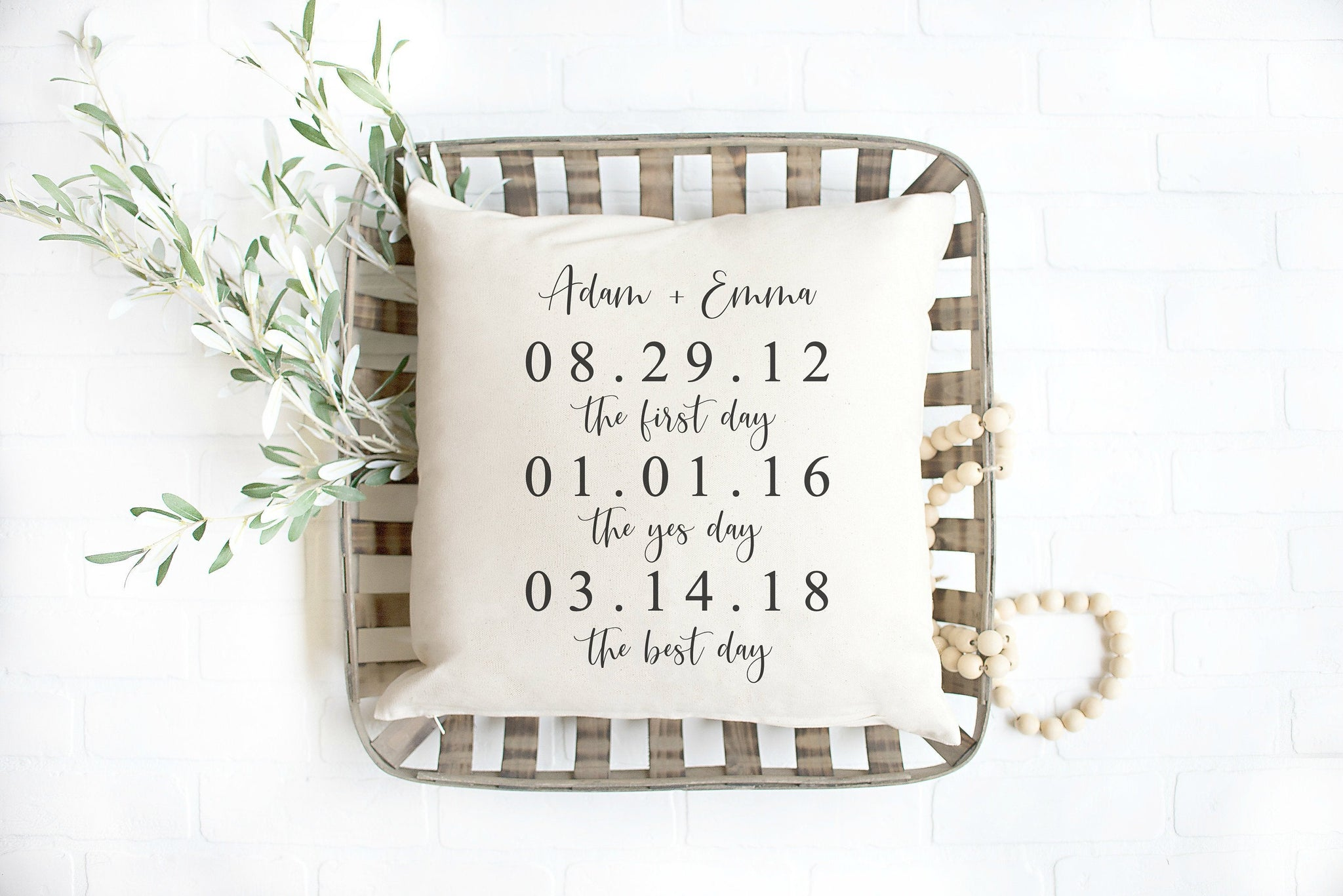 Wedding Gift for Bride Wedding Gifts Personalized Pillow Newlywed Gift