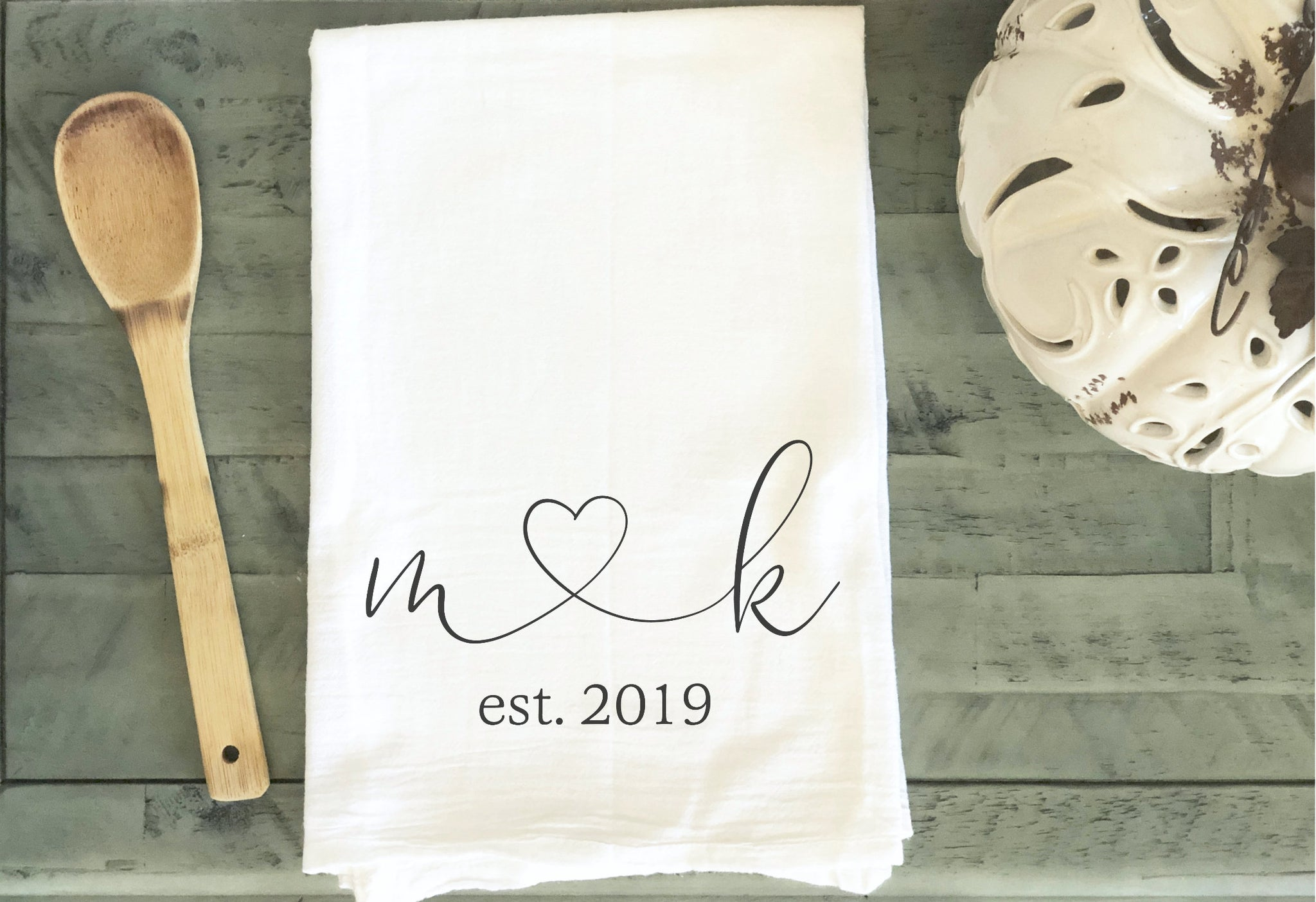 Engagement gift, Wedding Gift, Gift for Bride, Wedding Gifts, Wedding Gifts for Couple, Personalized Tea Towel