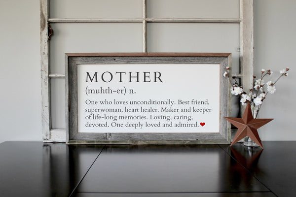 Definition of Mother Wooden Signs - Personalized Mother's Day Gift