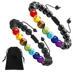 Load image into Gallery viewer, Custom-handmade-natural-chakra-rock-beads-bracelet-mens-women.