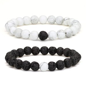 Natural Volcanic Stone bead for  couples