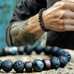 Load image into Gallery viewer, Natural Lava Stone Bracelet