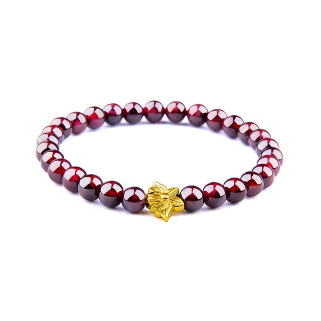 Men Bracelets Natural Garnet Beads Bracelet For Women Red Stone Bracelet Silver-plated Yoga Balance Pulsera Couples Jewelry Gift