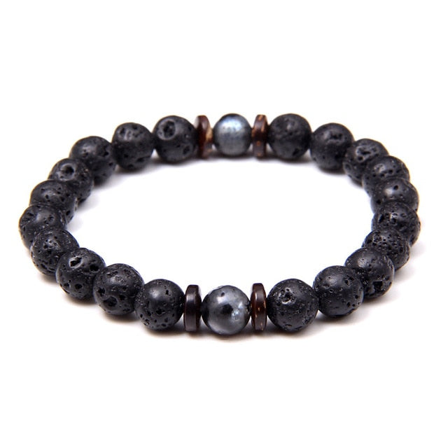 Natural Labradorite Bracelets Set Clear Energy Real Hematite Bracelets Men Polished Black Onyx Stone Beads Bracelets For Women