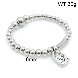 Hot Sale Fashion Women Men Silver Color Gold Stainless Steel Roud Ball Bead