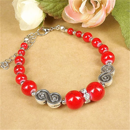 Lusion Brand Tibet Jewelry Beads Simple Bracelet For Woman