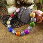 Load image into Gallery viewer, Lusion Brand Tibet Sliver Color Gem Stone Flower Bracelet For Woman