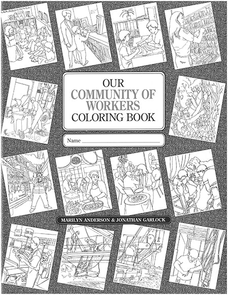 Our Community of Workers Coloring Book