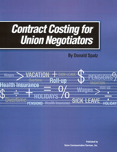 Contract Costing for Union Negotiators (with CD)