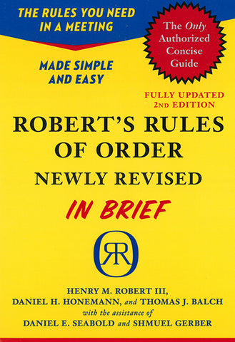 Robert's Rules of Order in Brief, 2nd edition