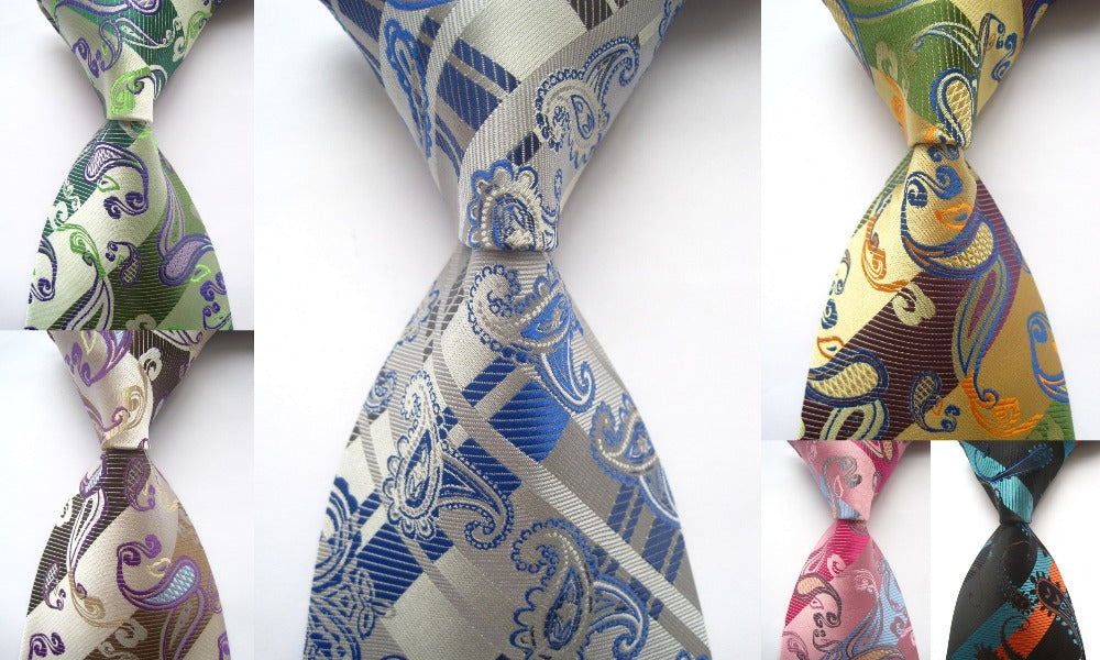 Men's Woven Silk Neck Ties