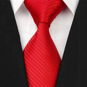 Striped Solid Men's Business Neck Ties