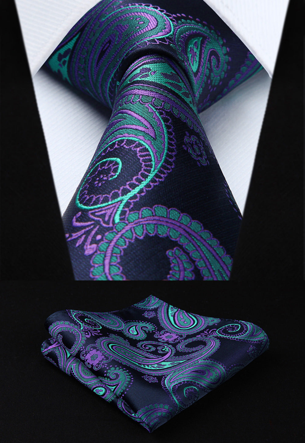 Men's Pocket Square and Neck Tie Set