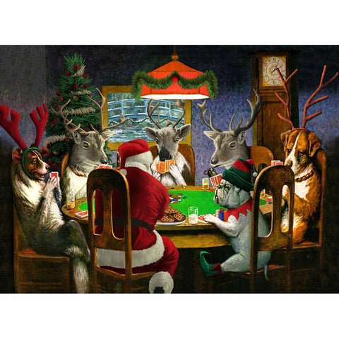 Santa Playing Poker