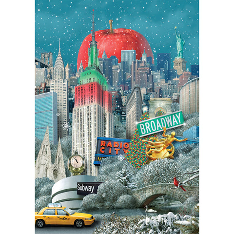 Big Apple Collage - Gift Tag