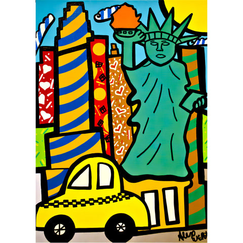 Liberty Pop Art - Large Notebook