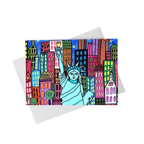 Liberty With Skyline