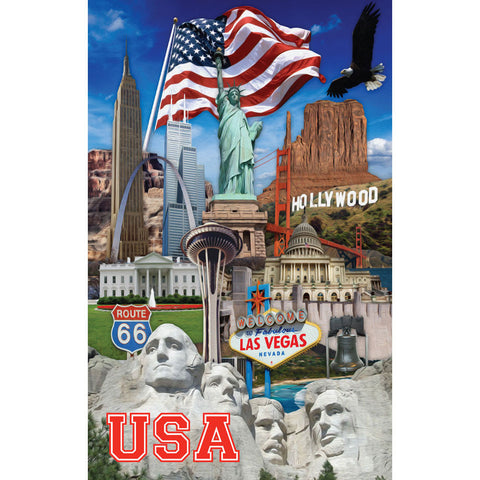 USA Collage - Small Notebook