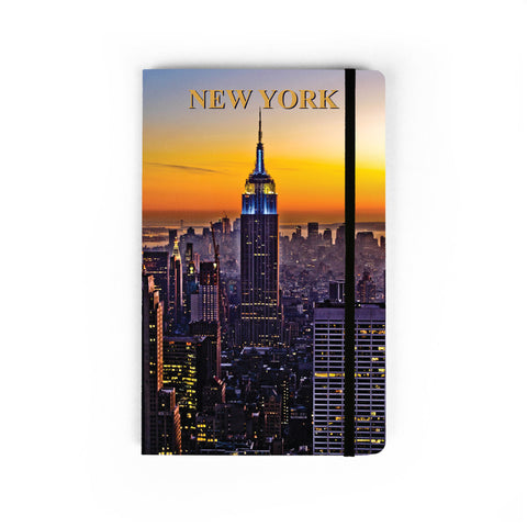Sunset in The City - Large Notebook
