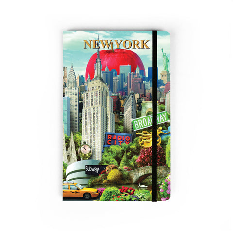 NYC Collage - Large Notebook