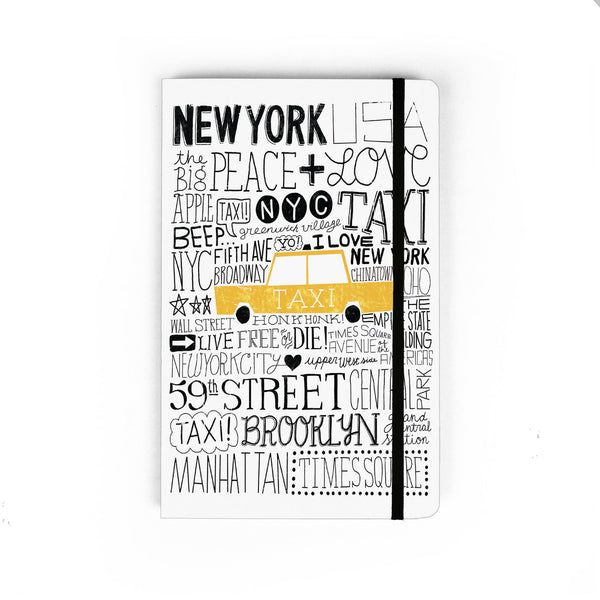 Iconic Taxi - Large Notebook