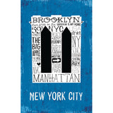 Iconic Brooklyn Bridge - Large Notebook