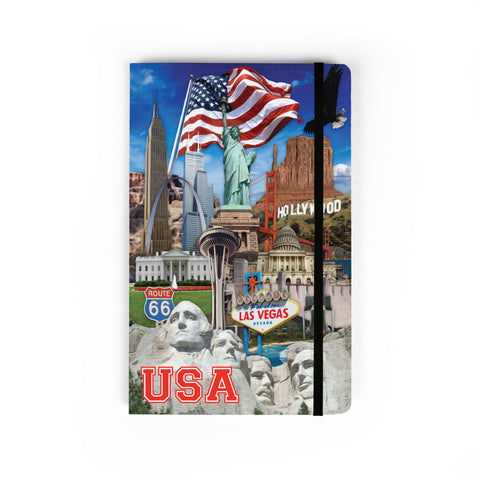 USA Collage - Large Notebook