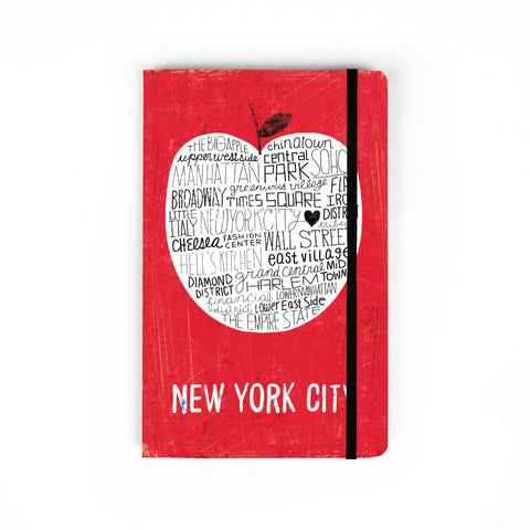 Big Apple NYC RED - Large Notebook