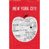 Big Apple NYC RED - Pocket Journal