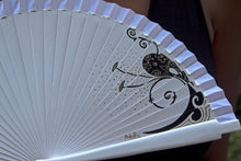 Wood Hand-painted Fan - Ivory