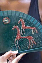 Wood Hand-painted Fan - Horses