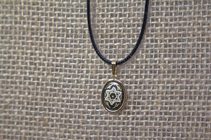 Damascene Star of David Pendant - Gold