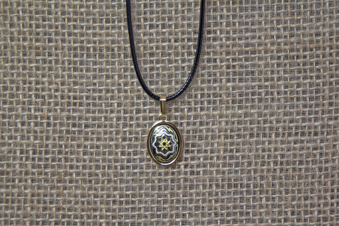Damascene Gold Pendant - Star