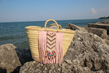 Wicker Market/Beach Basket - Tribal