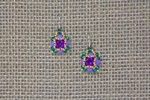 Miyuki & Czech Glass Earrings - Purple/Green