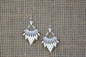 Miyuki & Czech Glass Earrings - White