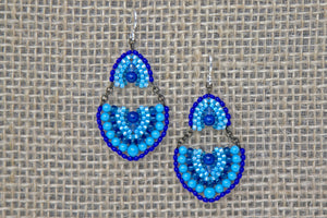 Swarovski & Miyuki Glass Earrings - Blue