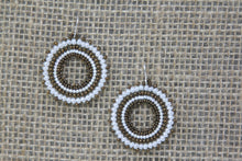 Miyuki Glass Earrings - White