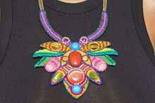 Miyuki and Czech Glass Necklace - Lotus Fantasy