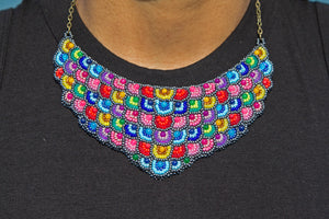 Miyuki and Czech Glass Necklace - Multicolor